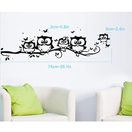 Amazon.com: Chitop Wall Sticker Tree Animals Bedroom Owl Butterfly Wall Stickers - Home Decor Living Room Butterfly for Kids Rooms - Vinilos Paredes 20: ...