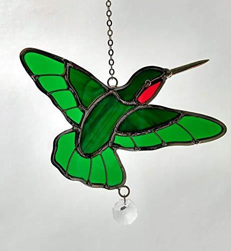 (Stained Glass Hummingbird Sun Catcher )