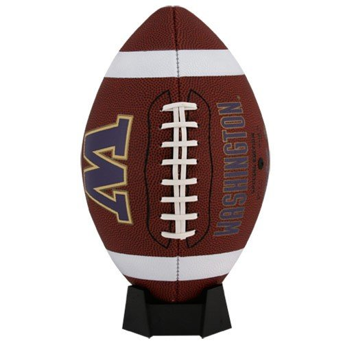 (NCAA Game Time Full Size Football , Washington Huskies, Brown, Full Size)