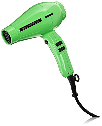 Pibbs TTECO8180 Twin Turbo 3800 Professional Ionic and Ceramic Hair Dryer, Green, 2100 Watt