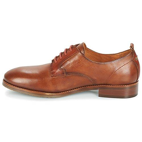 cuero Cuero De Royal Pikolinos Cordones Mujer W4d Para i18 Zapatos Derby Marrón avawPIq