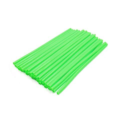 Motorcycle Wheels Spoke Wire (uxcell 36pcs 17cm Length Motorcycle Wheel Steel Wire Spoke Reflective Clip Tube Light Green)
