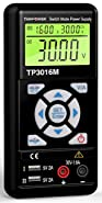Tekpower TP3016M Portable Handheld Variable DC Power Supply with USB Port, 0.3V - 12V @ 0-3.75A or 0.3V-30V@ 1.6A with VC and CC Control, Upgraded TP3005D,HY3005, Mastech