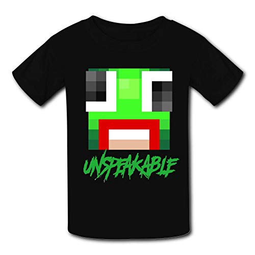 (WWCJACKS Un-Speakable Creeper Kids T-Shirt Short Sleeve Unisex Crew Neck Casual Tees for Boys Girls)