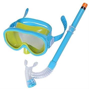 Gafas y tubo de buceo para niños, antivaho
