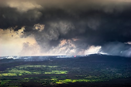 'Heaven and Earth' Kilauea East Rift Zone 2018 lava Eruption, Hawaii Island - large unframed original print direct from Big Island photographer Harry Durgin by Tanglewood Gallery