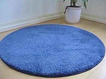Palace Hochflor Shaggy Teppich Blau Rund In 7 Größen