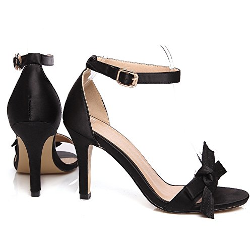 Coolcept Women Ankle Strap High Heels Sandals Black QHB2cF1