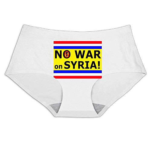 - No War On Syria,Smooth Breathable Ice Silk,Underwear Soft Briefs Invisible Panties Women's Full Coverage Bikini