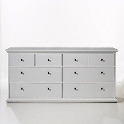 Tvilum Sonoma 8 Drawer Double Dresser in White ()