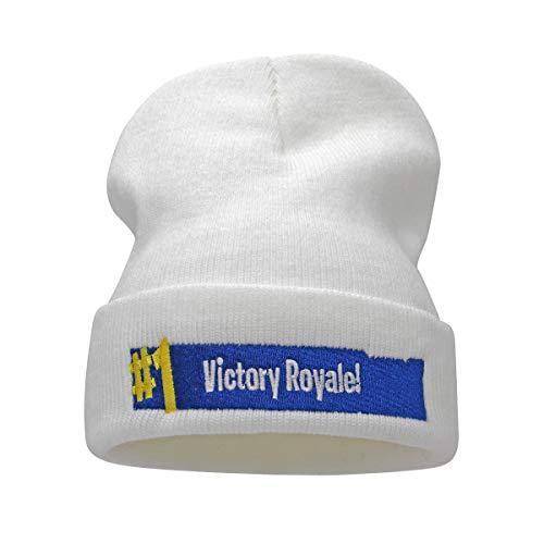 jerague Men Women Acrylic Watch Cap Knitted Winter Beanie Skull Cap Embroidery Cuffed Hat ()