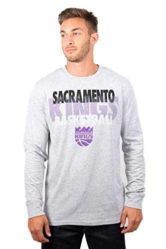 (UNK NBA Adult Men T Supreme Long Sleeve Pullover Tee Shirt, Gray, Medium)