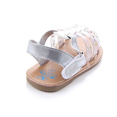 Babyschuhe Longra Neugeborenes Baby Mädchen Sandalen weiche Moccs Schuhe weiche Sohlen rutschfeste Kunstleder Schuhe lauflernschuhe krabbelschuhe