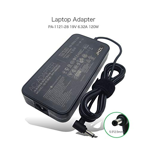 Original Laptop Ac Power Adapter Compatible for Asus 19V 6.32A 120W PA-1121-28 for Asus N750 N500 G50 N53S N55 All-in-One Notebook Charger with Power Cord