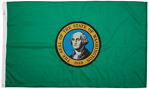Valley Forge Flag Made in America 3' x 5' Nylon Washington State - Store Valley Fair