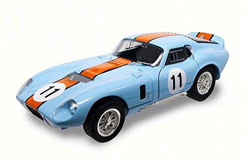 - 1965 Shelby Cobra Daytona Coupe, Blue - Road Signature 92408 - 1/18 Scale Diecast Model Toy Car
