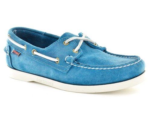 Zapatillas Sebago Para Hombre Tamaño 6 M B73031 Muelles Para Agua Azul Nubuck