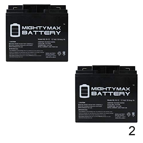 Mighty Max Battery 12V 18AH F2 SLA Replacement Battery for Power Sonic PS-12180-2 Pack Brand Product