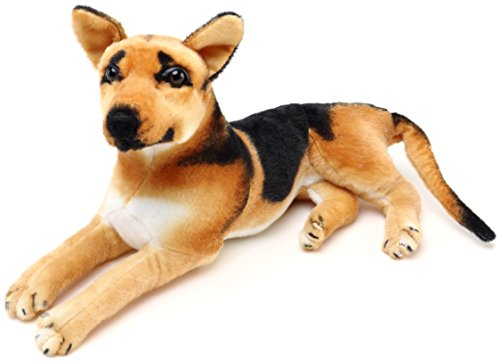VIAHART Hero the German Shepherd | 19 Inch Stuffed Animal Plush Dog Tiger Tale Toys - German Toy