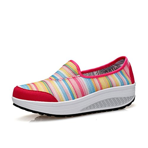 Athletic Sneakers Da da Shake Loafers Mocassini Di Fitness Autunno Platform Flat Tela B E guida Donna Primavera Shoes Comfort Scarpe Shaking Casual Slip Guida 1cRzdqW1