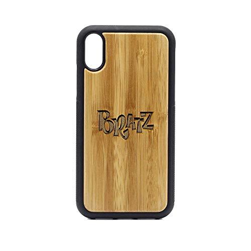 Logo Bratz - iPhone XR Case - Bamboo Premium Slim & Lightweight Traveler Wooden Protective Phone Case - Unique, Stylish & Eco-Friendly - Designed for iPhone - Glitter Bratz