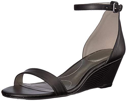 Bandolino Women's OMIRA Wedge Sandal, Black, 7 Medium US from Bandolino
