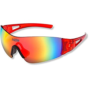 b6117ce91a7 2015 Lazer Unisex Magneto M1 Sunglasses Crystal Red Frame   Fire Mirror  Lens  Amazon.co.uk  Sports   Outdoors