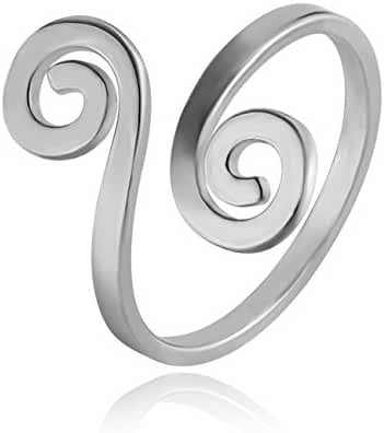 CHUANGYUN Innovative Auspicious Clouds Wrap Stackable Ring Open Ring Adjustable Ring Men&Women