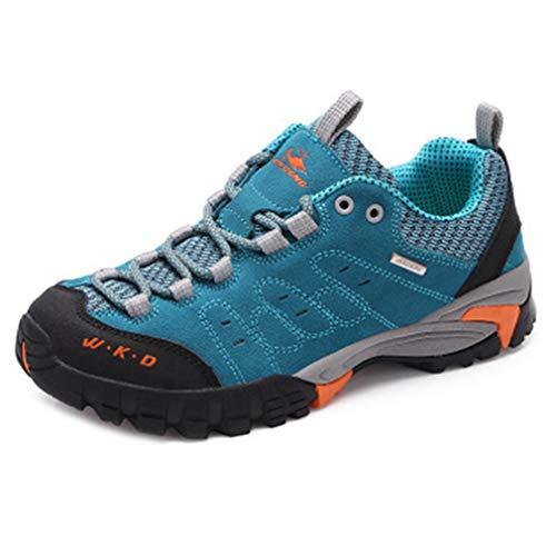 Climbing Backpacking Anti Hiking Blue Waterproof GIY Shoe Trail Hiker Outdoor Slip Shoes Running Women's Casual 0PRxq71