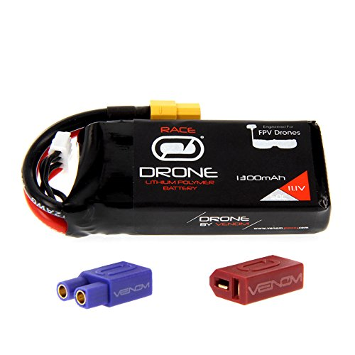 Price comparison product image Venom 50C 3S 1300mAh 11.1V Drone Racing LiPo Battery with Universal 2.0 Plug (XT60 / Deans / EC3)