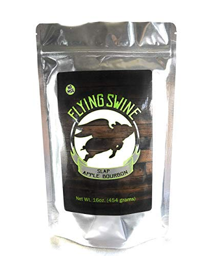 Flying Swine Slap Apple Bourbon BBQ Rub 16 Oz - Award Winning Butt Rub Seasoning & Grilling Spice - Great for Smoking Meat, Rib Rub, Brisket Rub, Pulled Pork & Chicken Marinade - No MSG & Gluten Free