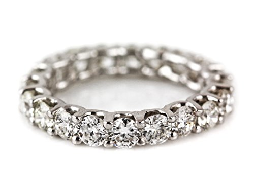 3.74ct Floating Diamond in 14K White Gold Eternity Band Ring - Size 7 by UltimateChoice