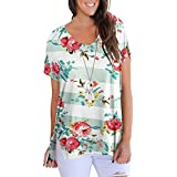 Jusfitsu Womens Summer Floral Tops Blouses –...