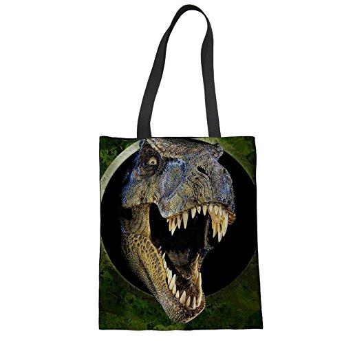 Nopersonality Bolso de tela de Lona para mujer Huella de Dinosaurio