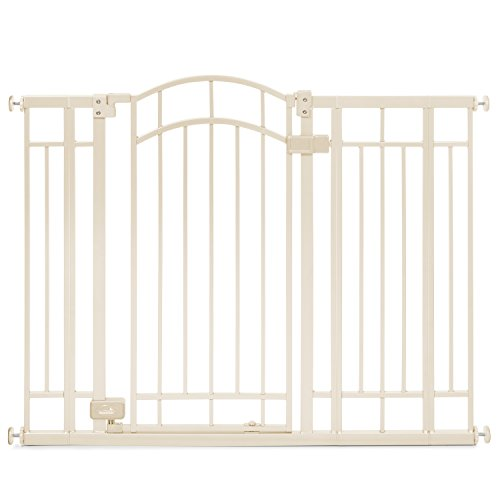 (Summer Infant Multi-Use Deco Extra Tall Walk-Thru Gate, Beige)