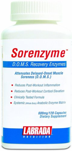 Labrada Nutrition Capsules Sorenzyme récupération d'enzymes, 120-Count Bottle