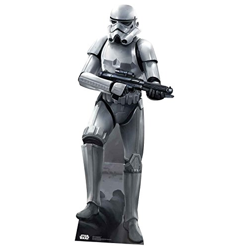Star Cutouts SC841 Official Star Wars Stormtrooper Battle Pose Lifesize Cardboard Cut Out ()