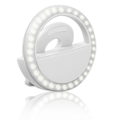 Clip on 36LED Selfie Ring Light for Cell Phone Camera [ Rechargeable Battery ] Selfie LED Clip for iPhone/iPad/Samsung Galaxy/Photography [ Brightness Light ] by T-XINRONG