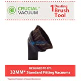 1 Upholstery Dusting Brush Tool Designed To Fits All 32mm U.S. Standard Fitting Vacuum Cleaners, Designed & Engineered By Crucial Vacuum