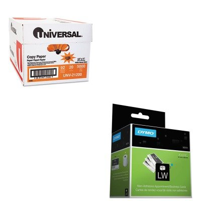 KITDYM30374UNV21200 - Value Kit - Dymo Business/Appointment Cards (DYM30374) and Universal Copy Paper (UNV21200)