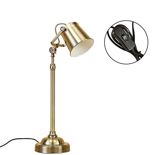 DWLXSH Desk Lamp with Bulb Energy Saving for Bedside Table, Bedroom Study, and Office,Table Lamp Iron Craft Desk Lamp Creative Gilt Iron Lamp