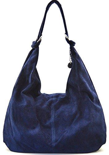 bloom porté nubuck sac nouvelle main Cuir cuir à épaule 2018 FONCE femme Destock BLEU collection Modèle main PqHPw4RSn