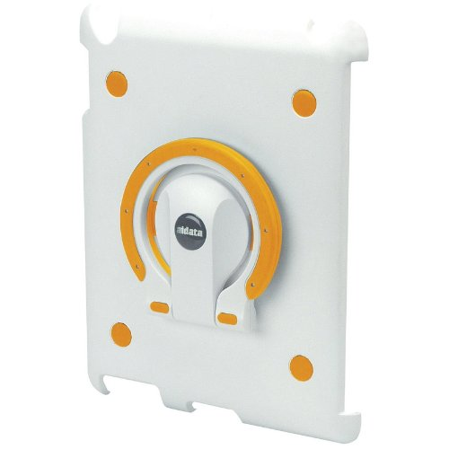 Aidata ISP202WO iPadStand Multi-function Stand, White Shell with White and Orange Ring For use with iPad 2; iPadStand can spin smoothly with angle adjustments between vertical and horizontal views by Aidata