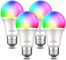 NiteBird Smart Light Bulbs Works with Alexa Echo Google Home and Siri, WiFi RGB Color Changing Dimmable LED Lights Bulbs,...