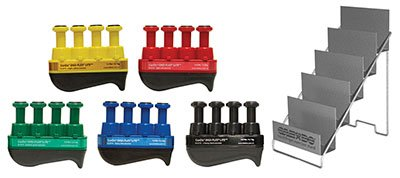 Alimed Digi-Flex LiTE - Set of 5 (1 each: yellow, red, green, blue, black) with Metal Stand