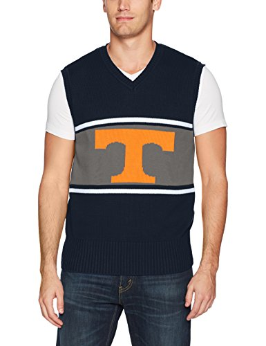 NCAA Tennessee Volunteers Men's Ots Sweater Vest, Large, Fall Navy -