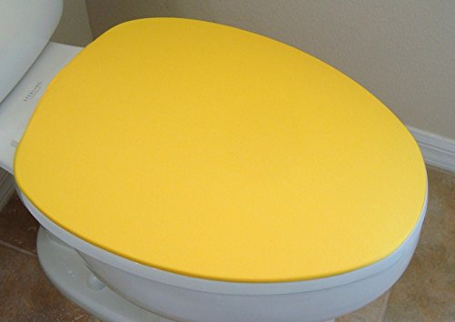 New Cover Lid for toilet seat fits on standard / elongated Models - HandMade USA (Yellow) (Yellow Toilet Seat Cover compare prices)