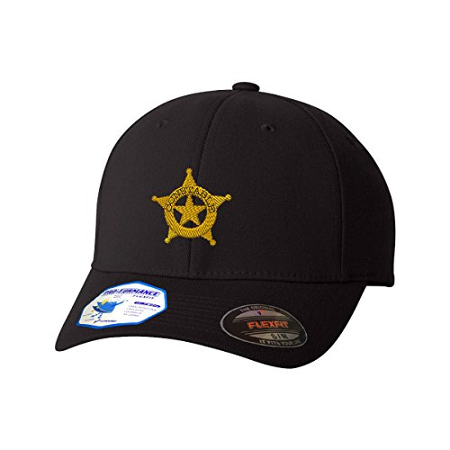 Constable Police Style 2 Flexfit Adult Pro-Formance Hat Black Large/X-Large]()