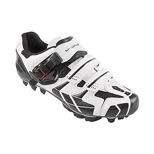 Fahrradschuh MTB schwarz   weiß Größe 45