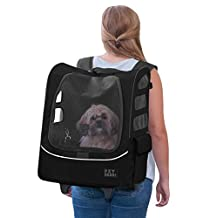 Pet Gear I-Go2 Plus Traveler Rolling Backpack Carrier for Cats and Dogs up to 25-Pounds, Black